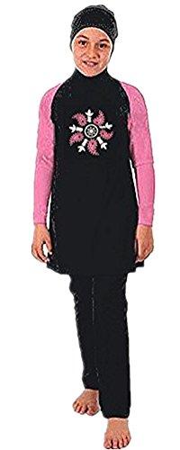 Muslim Swimwear YEESAM Girls Kids Burkini Modest Hijab Swimsuits UPF 50+ (Children's - XXL, New 1) by Muslim Swimwear