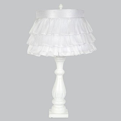 Jubilee Collection L71890W-4770 Shabby Chic Lamp Base with Ruffled Sheer Skirt Shade, - Ruffled Lamp