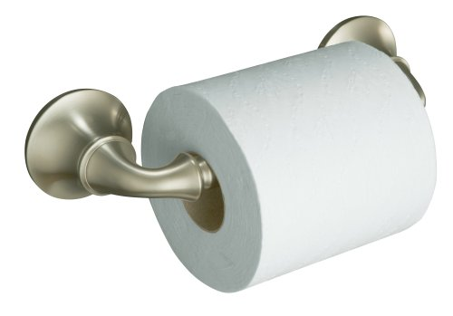 KOHLER K-11374-BN Forté Toilet Tissue Holder, Vibrant Brushed Nickel