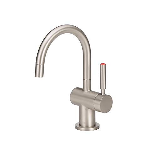 - InSinkErator Modern Instant Hot Water Dispenser - Faucet Only, Satin Nickel, F-H3300SN