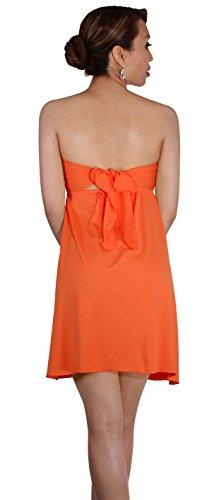 Dress Orange Sodacoda All One Knee Beach Strapless uk 12 8 Colours Size Summer Lenght Holiday 4IKqTgIw6