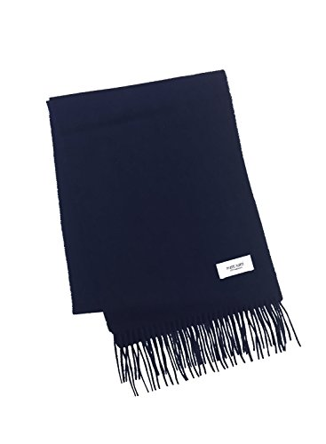 Navy 100% Cashmere Scarf Muffler Women Gift Scarves Wrap Blanket A0711B1-7
