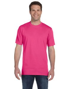 (Anvil 780 Adult Midweight Tee - Hot Pink,)