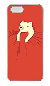 iPhone 4s Case, Unique Custom Design Sleeping Bear Hard PC Clear Protective Case Cover for iPhone 4s
