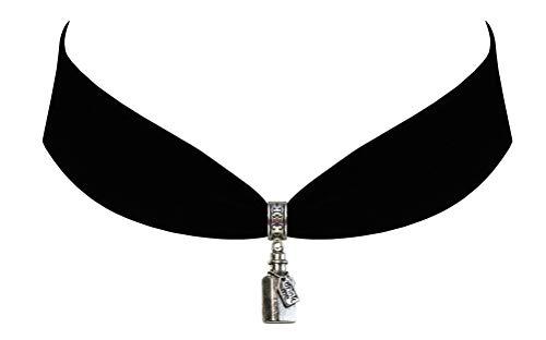 Victorian Vault Alice in Wonderland Black Velvet Choker Drink Me Bottle Steampunk Jewelry Gothic Necklace -
