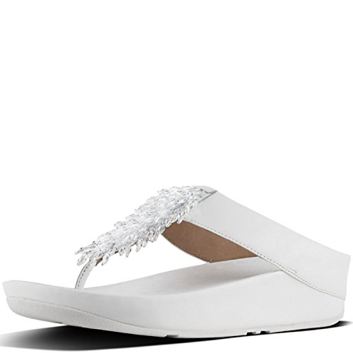 Arch Wedge Thong - FitFlop New Women's Rumba Thong Sandal Urban White 10