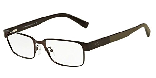 Armani Exchange AX1017 Eyeglass Frames 6083-54 - Matte Brown - Men Frames Designer