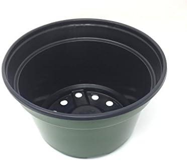 8 Flower Pot, Qty. 25 Lightweight Mum Pan, 8×5 Green, Greenhouse Container