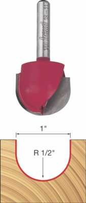 Freud 18-113 1-Inch Diameter Round Nose Router Bit with 1/4-Inch Shank
