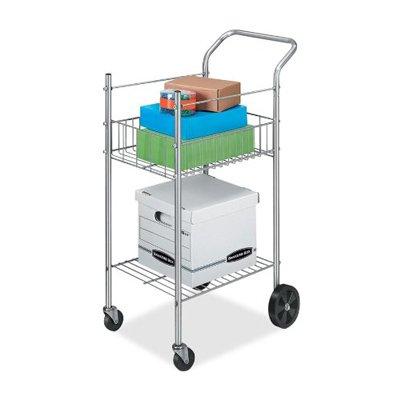 Fellowes 4092001 Mail Cart,Holds 75 LTR/Lgl Fldrs,19-1/2-Inch x26-Inch x40-1/4-Inch,CE