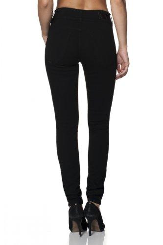 Secret Salsa jambe Noir Femme Black Jeans True noir Push avec skinny In denim en nrnRO1