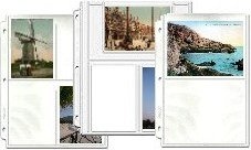 Hobbymaster Postcard Collecting Binder Page Assortment, 25 Clear Plastic Pocket Pages fit Any 3 Ring Binder
