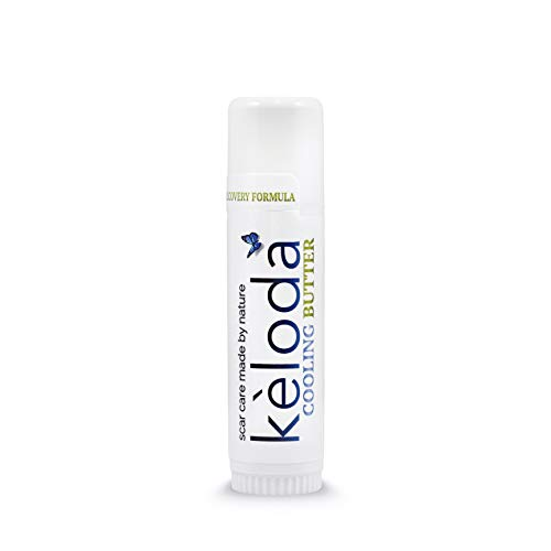 Keloda Cooling Scar Care Butter: scar and keloid removal balm for itching, painful surgical scars and keloids, burn, stretch marks, acne with anti scar Cocoa & Shea cream Butter, Coconut & Jojoba Oil