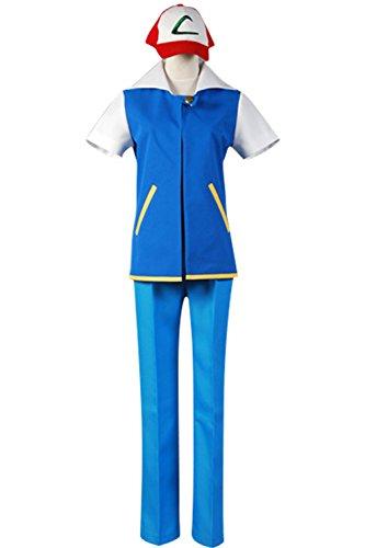 Ash Ketchum Costume Female (Cosplaybar Cosplay Costume Pokemon Ash Ketchum Satoshi Female XXXL)