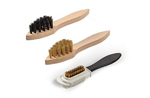 Kit d'entretien de chaussures Kit en bois Boîte à valets style Verona, crème à chaussures à base d'eau Kaps avec brosses… 4