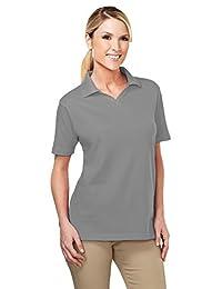 Tri-Mountain Women Newport Short Sleeve Johnny Collar Pique Easy Care Golf Shirt