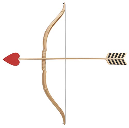 California Costumes Mini Bow and Arrow Set, Gold/Red, One -