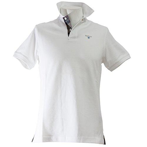 Barbour - Polo - para Hombre Bianco S: Amazon.es: Ropa y accesorios