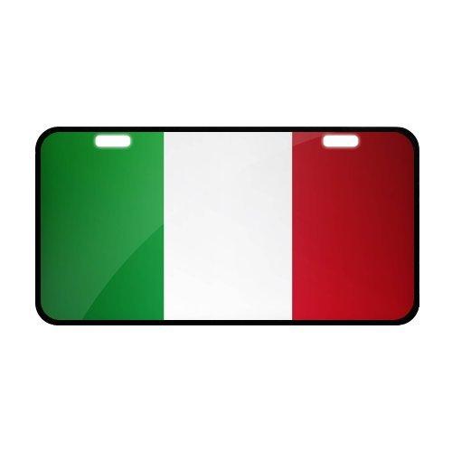 Italia Flag Italy Italian Novelty Metal Vanity License Tag Plate