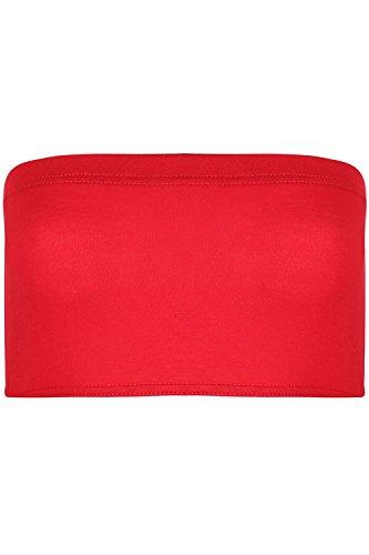 fascia con senza BOOBTUBE top S spalline elasticizzato giubbotto Rosso M Jealous IT spalline 8 aderente reggiseno BE 10 corto 14 donna a 8 UK xO4Iwq0x8t