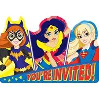 Amscan DC Girls 8ct Invitation Card