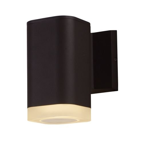 Maxim 86134ABZ Lightray LED Wall Sconce, Architectural Bronze Finish, Glass, PCB LED Bulb , 18W Max., Wet Safety Rating, 2700K Color Temp, Shade Material, 1355 Rated Lumens