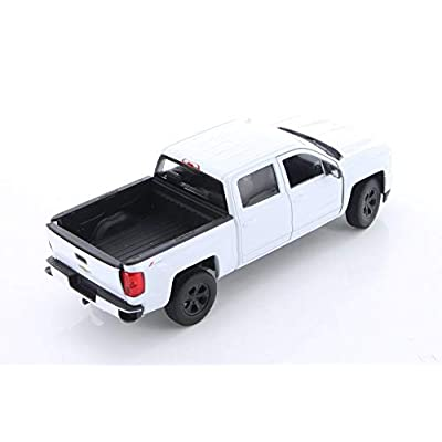 Welly 2020 Chevy Silverado, White 24083/4D - 1/24 Scale Diecast Model Toy Car but NO Box: Toys & Games
