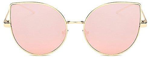 Women's Cat-Eye Mirrored Sunglasses
