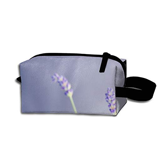 Multi-functional Small Hand-Held Pencil Bag Coin Purse Storage Travel Cosmetic Bag (Lavender Pastel)