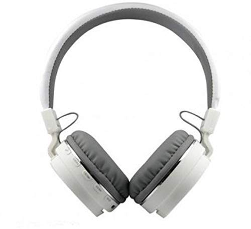 SH 12 Wireless Bluetooth Headphones with Aux  White