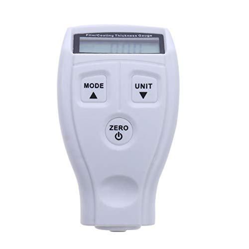 Portable Mini Digital Coating Paint Thickness Gauge Meter Tester Car Painting,Automobile Pressure Gauge Paint Ing Meter for Car Painting Manufacture Metal Working Chemical Industry Inspection(White)
