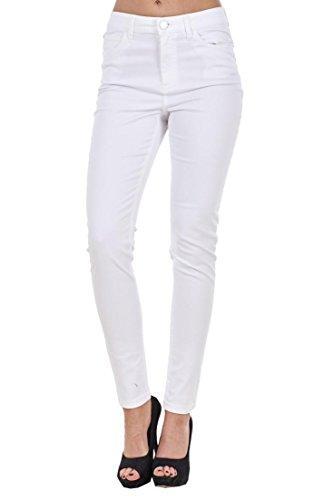Fit Plus White Slim Plain Jeans Skinny Jeggings Coloured Denim Stretch Size Ladies P48qwq