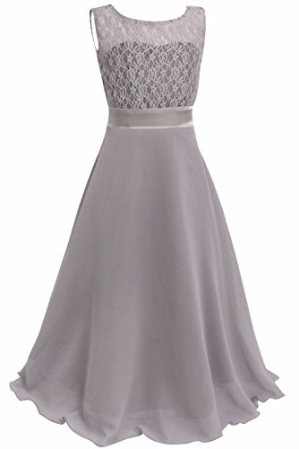 FEESHOW Girls Kids Lace Flower Wedding Pageant Party