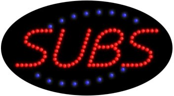 Subs LED Sign - Flashing (Arter Neon Signs)