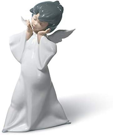 LLADR Mime Angel Figurine. Porcelain Angel Figure.