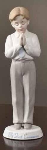 "6.5"" Boy Communion Bisque Figure Valencia by Roman"
