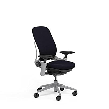 Phenomenal Steelcase Leap Desk Chair In Black Fabric Highly Adjustable Arms Platinum Frame And Base Open Box Ncnpc Chair Design For Home Ncnpcorg