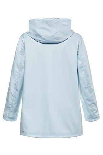 Ice Blue 715061 Women's Contrast Jacket Popken Weatherproof Lined Plus Ulla Size zHUqvH
