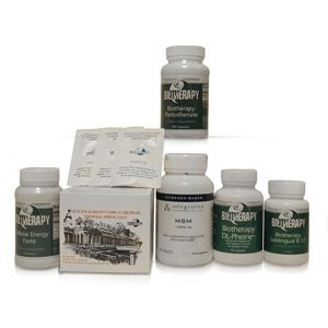 Biotherapy Post-Polio Syndrome Kit - Includes : Karlovy Vary Thermal Spring Salt Biotherapy Cellular Energy Forte Biotherapy DL-Phenine MSM Biotherapy Sublingual B-12 Biotherapy Pantothetine