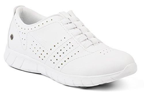 De Femme Blanc blanc Travail Erik Chaussures Suecos® UqE144
