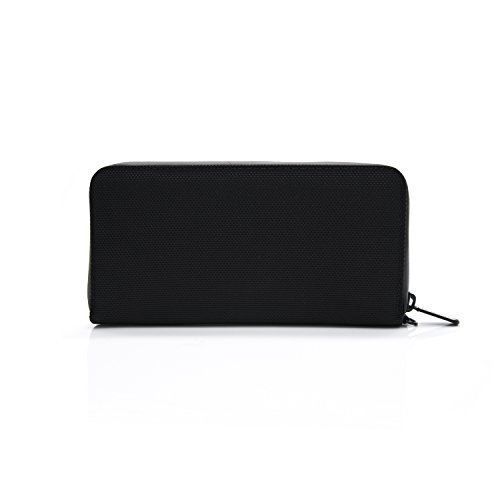 Patu Travel Cell Phone Passport Zipper Wallet, RFID Blocking, Ballistic Black