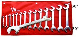 V8 Tools (V8 214) 14 Piece 3/8in. to 1-1/4in. Angle Head Wrench Set