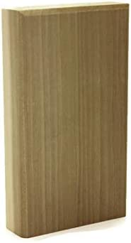 Plain Base Block Paint Grade 1 Trim Molding 1 x 2 3//4 x 6 Poplar