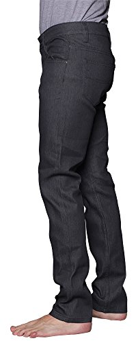 Victorious Men's Skinny Fit Raw Denim Jeans DL938 - CHARCOAL - 38/32