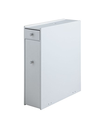 Proman Products Bathroom Floor Cabinet Wood in Pure White