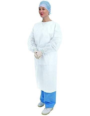Premier 5522 - Puños desechables de manga larga, elásticos, color blanco, 10 unidades