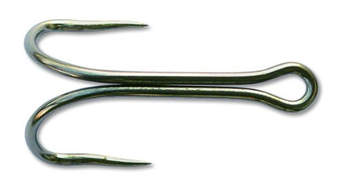 (Mustad 78923 Classic Barbless 60-Degree Spread Undulated Point Stainless Steel Double Tuna Hook with Open Shank (Pack of 10), 21)