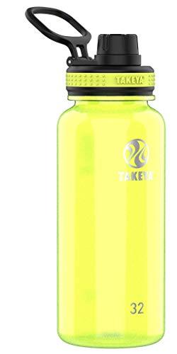 Takeya 50275 Tritan Sports Water Bottle with Spout Lid, 32 oz, Wild Lime
