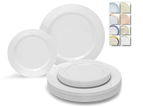 Heavyweight White Plastic Plate - 5