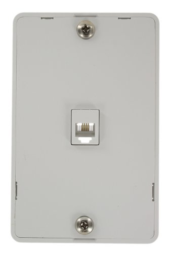 Telephone Wall Phone Jack (Leviton 40214-W Telephone Wall Jack, 6P4C, Screw Terminal, Light Almond,)